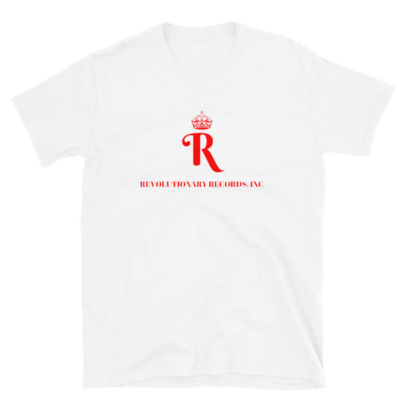 REVOLUTIONARY RECORDS T-SHIRT (White/Red)