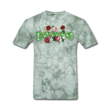 UNHINGED ROSES T-SHIRT (Green Tie Dye)