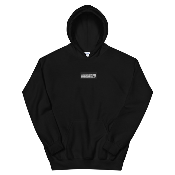 UNHINGED EMBROIDERED HOODIE (Black)