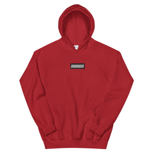 UNHINGED EMBROIDERED HOODIE (Red)
