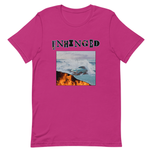 UNHINGED CAR FIRE T-SHIRT (Hot Pink)