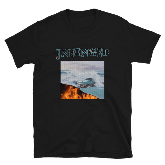 UNHINGED CAR FIRE T-SHIRT (Black)
