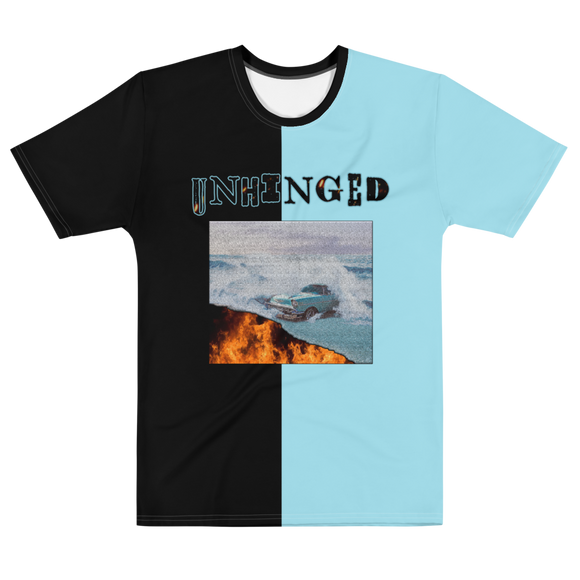 UNHINGED CAR FIRE T-SHIRT (Black/Blue)