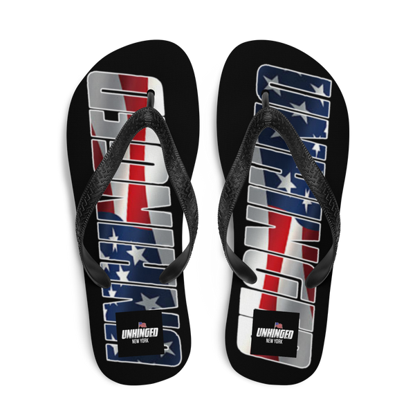 UNHINGED USA FLIP FLOPS