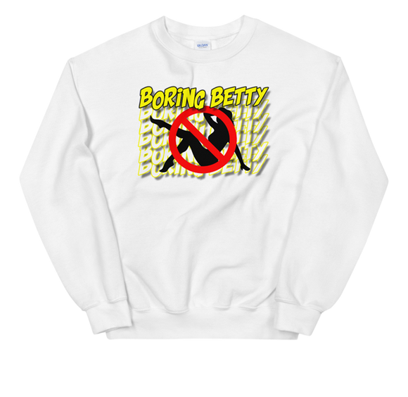 SWAVE BORING BETTY CREWNECK (White)