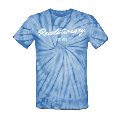REVOLUTIONARY T-SHIRT (Blue Tie Dye)