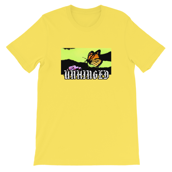 UNHINGED FLYING MONARCH T-SHIRT (Yellow)