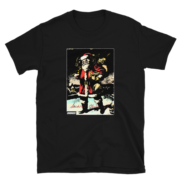 UNHINGED SANTA T-SHIRT (Black)