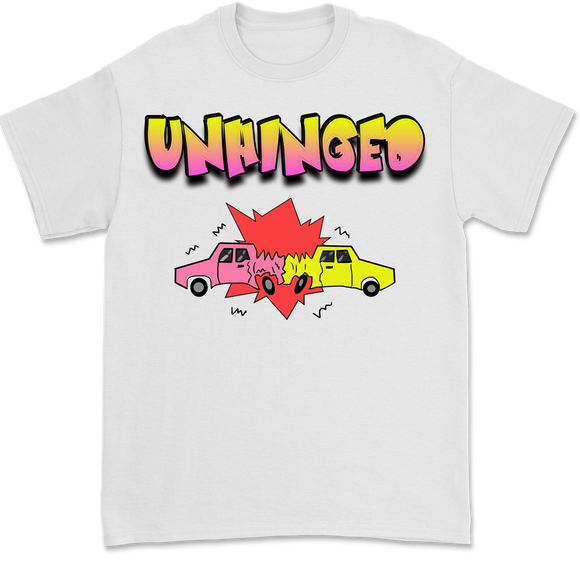 UNHINGED CARTOON CRASH T-SHIRT (White)