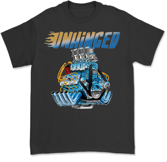 UNHINGED CAR ENGINE T-SHIRT (Black)