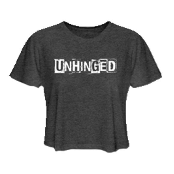 UNHINGED CROP TOP (Dark Grey)
