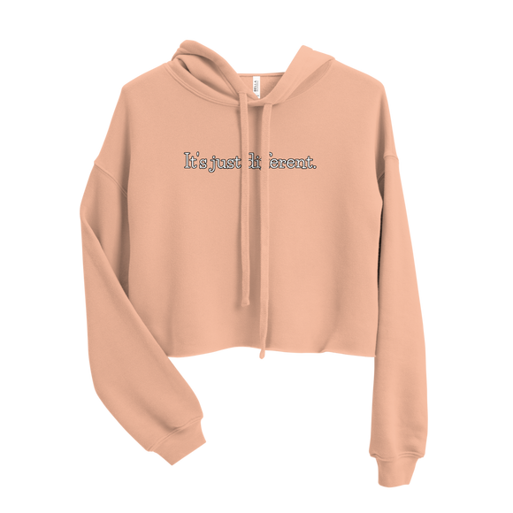 IT'S JUST DIFFERENT WOMENS CROP HOODIE (Peach)