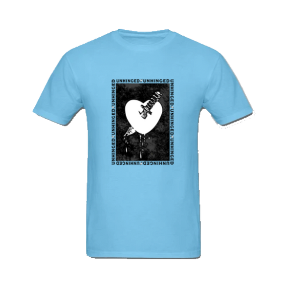 UNHINGED KNIFE HEART T-SHIRT (Light Blue)