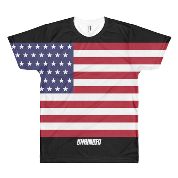 UNHINGED ALL-OVER FLAG T-SHIRT
