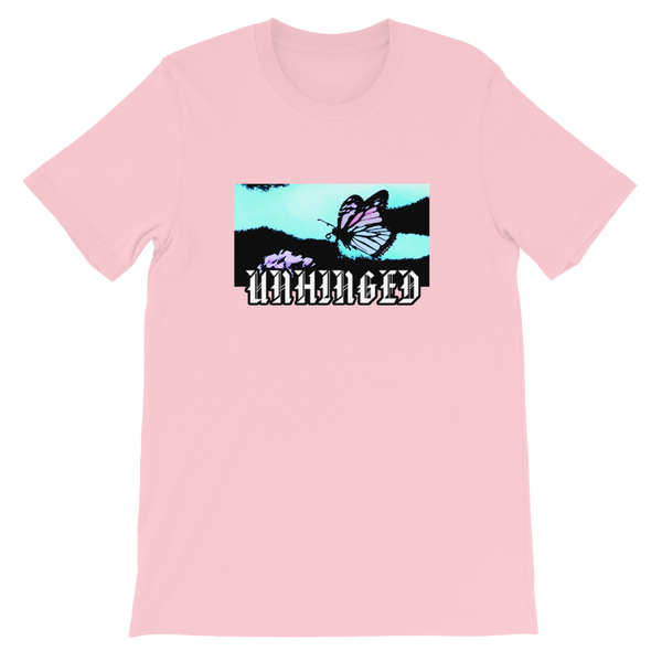 UNHINGED FLYING MONARCH T-SHIRT (Pink)