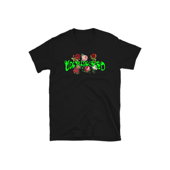 UNHINGED ROSES T-SHIRT (Black)