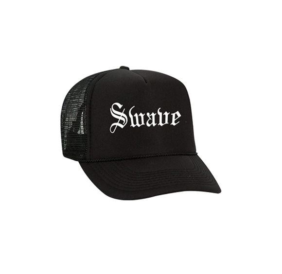 SWAVE OLD ENGLISH TRUCKER HAT (Black)