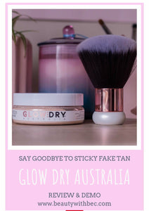 Beauty with Bec, GLowDry Australia - starter kit, review of glowdry
