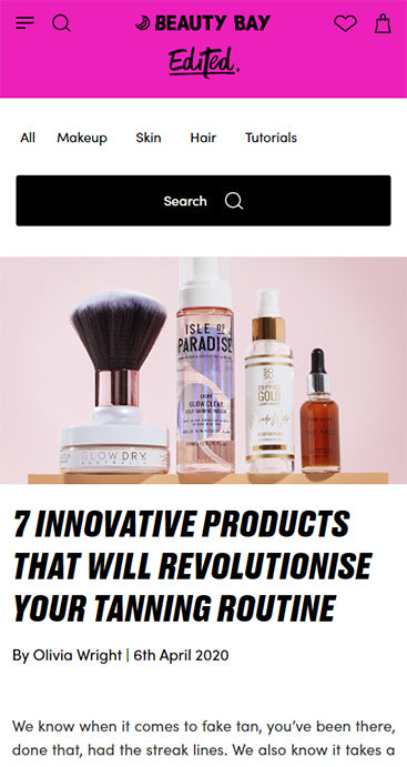 The Starter Kit by GlowDry Australia featured in Edited by Beauty Bay Blog - April 2020