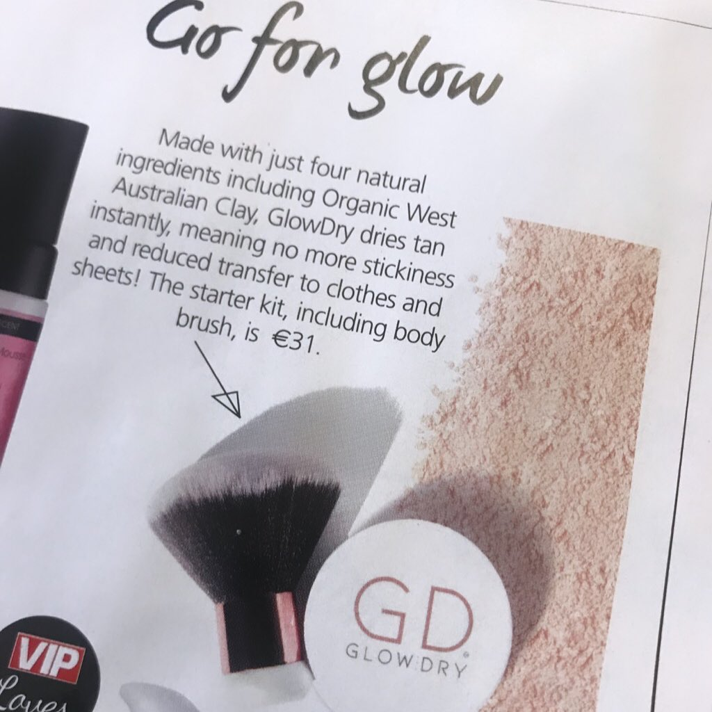 Go for the glow! - GlowDry Australia beauty feature, VIP Magazine Ireland August 2019
