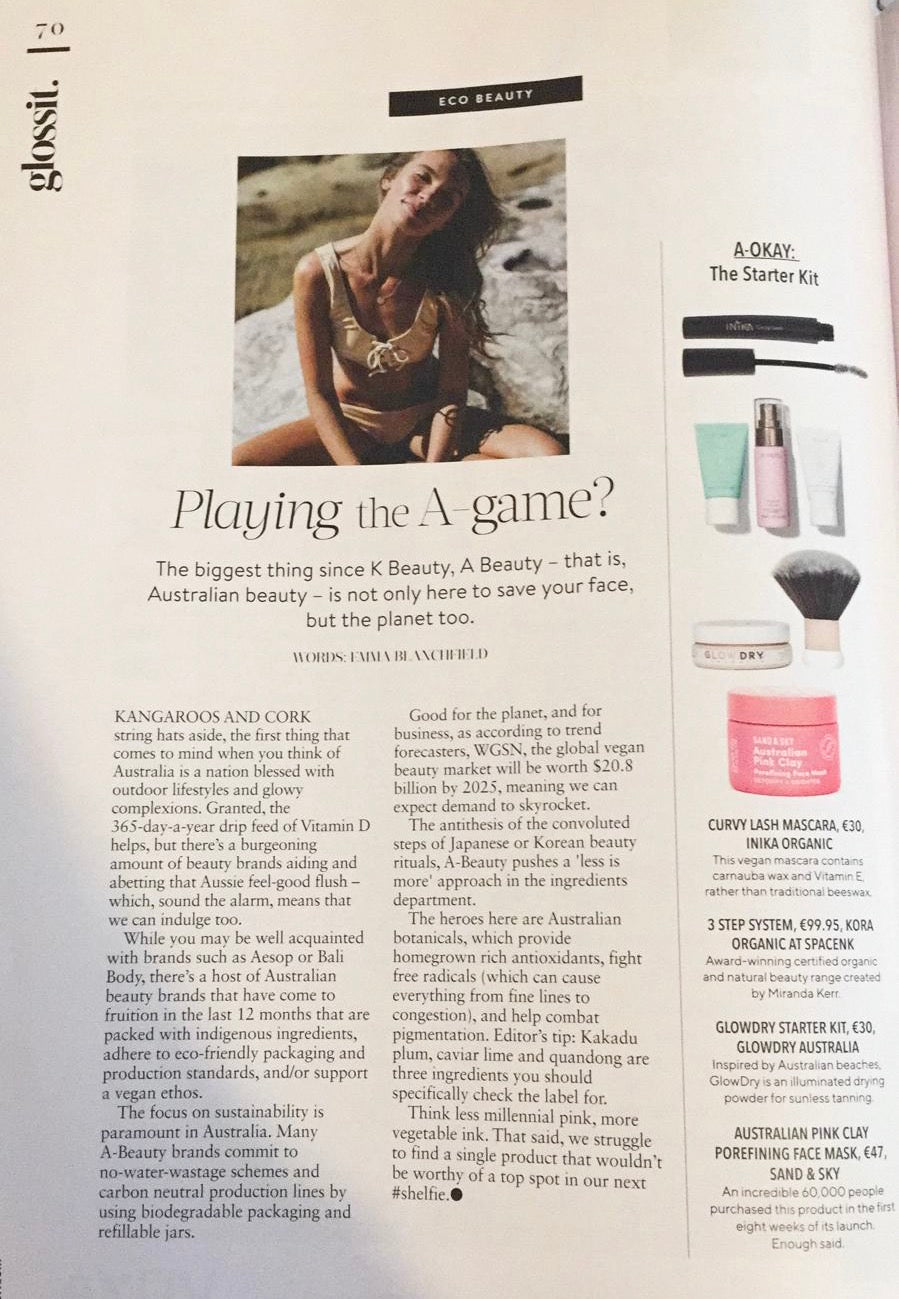 Playing the A-Game? Glossit article - Irish Tatler June 2019