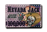 Nevada Jacks Ceramic Plaque - $100,000 (Set of 10)