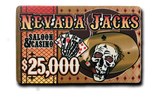 Nevada Jacks Ceramic Plaque - $25,000 (Set of 10)
