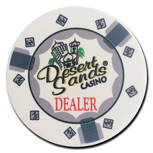 Desert Sands Ceramic Dealer Button