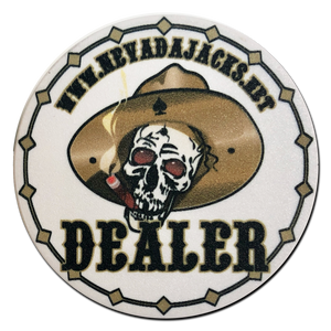 Nevada Jacks Ceramic Dealer Button
