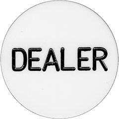 Plastic Dealer Button