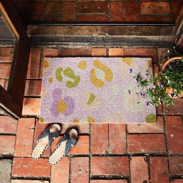 Billy Jute Door Mat - Lilac