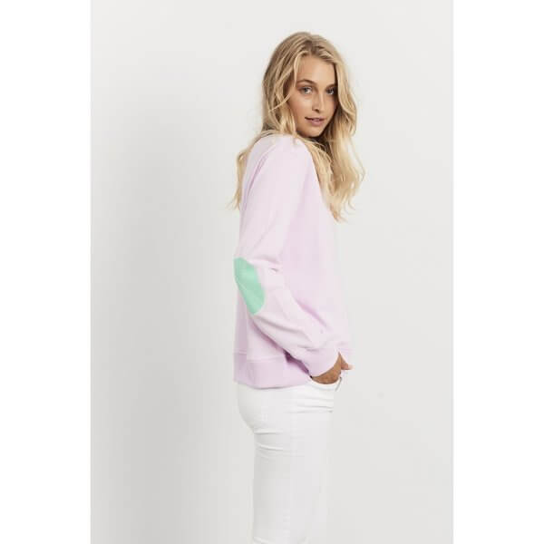 Classic Windy EST 1971 Jumpers - Powder Pink with Apple Green