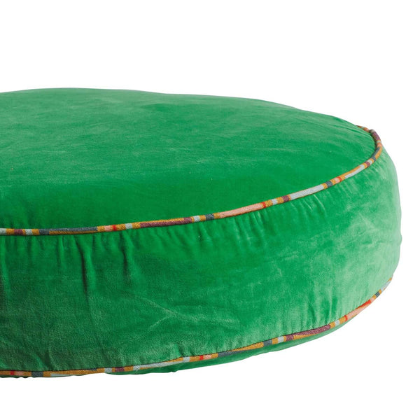 Etienne Velvet Floor Cushion - Apple