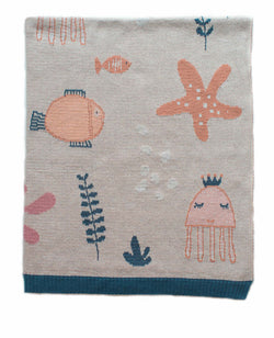 Under The Sea Girl Baby Blanket