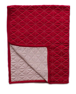 Reversible Quilted Baby Blanket - Poppy / Blush
