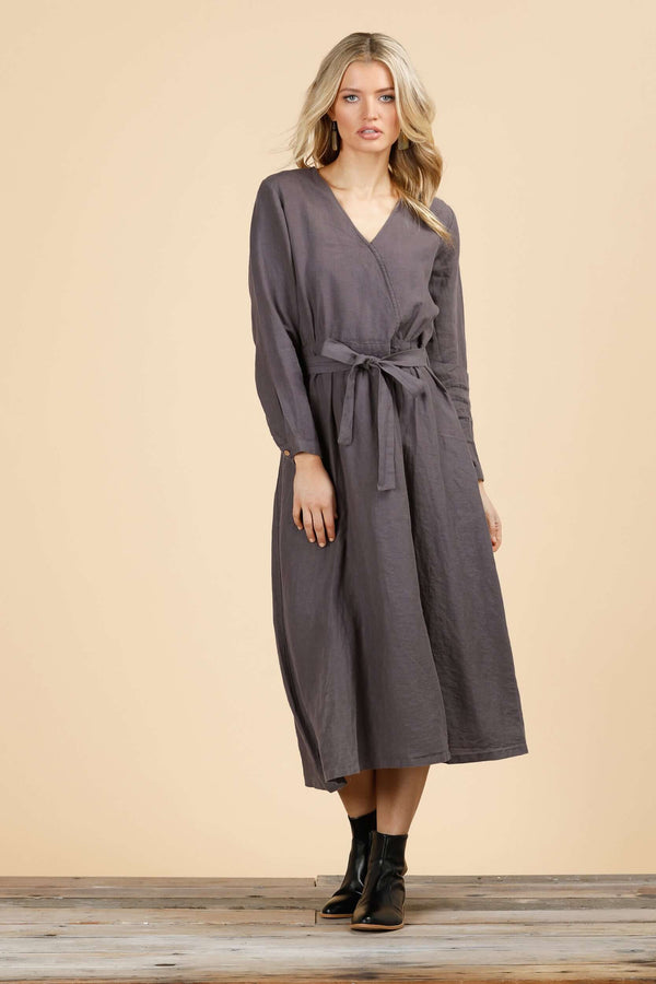 Arizona Long Sleeve Dress - Sable