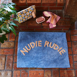 Tula Nudie Bath Mat - Cornflower
