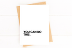 You Can Do This Cancer Encouragement Card