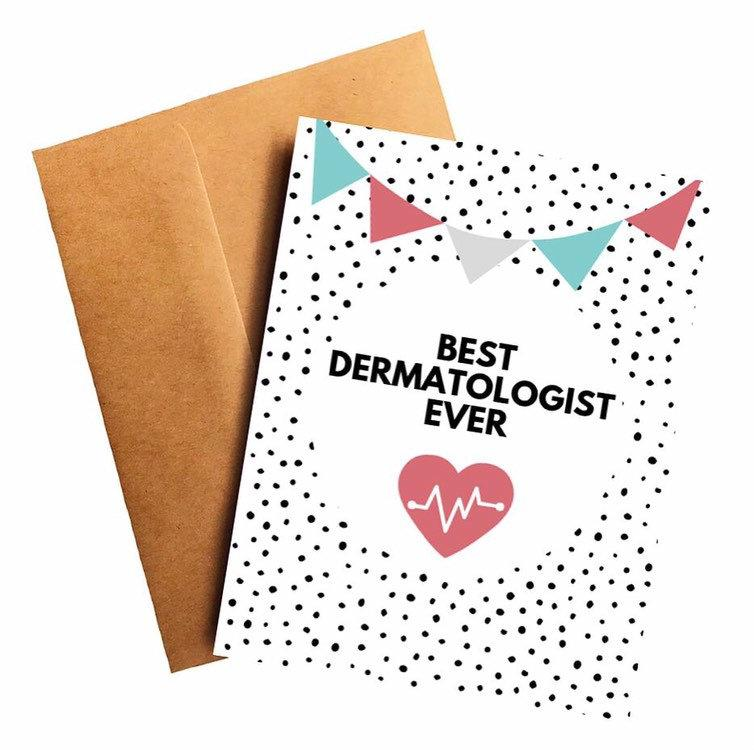 Best Dermatologist Ever Doctor Thank You Card Better and Co.