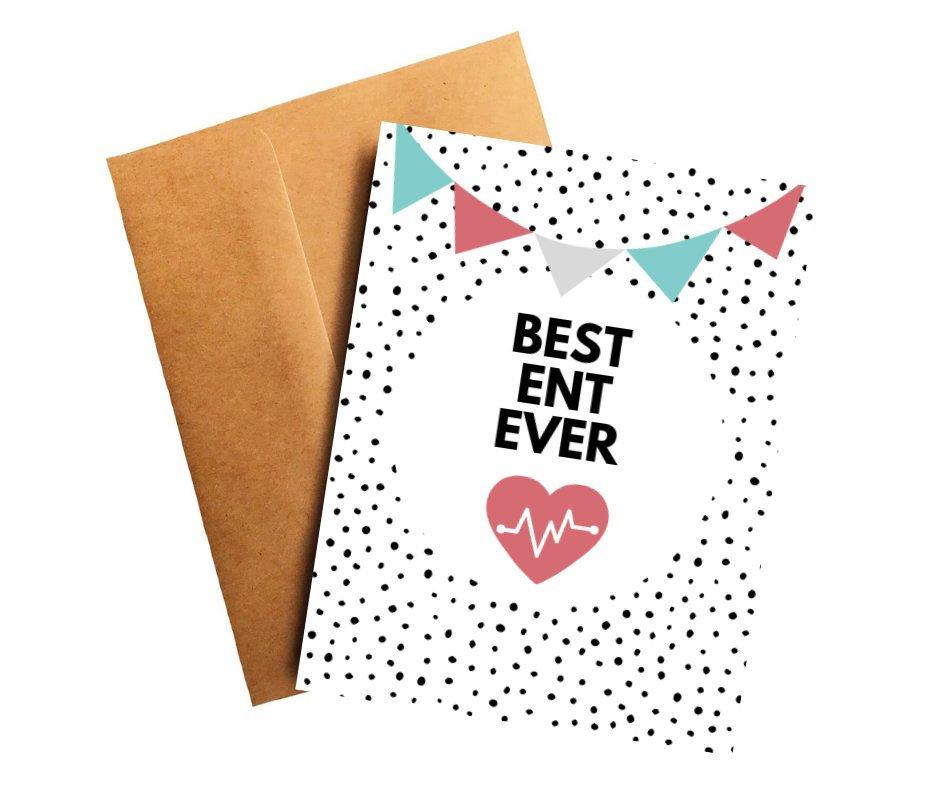 Best ENT Ever Doctor Thank You Card Better and Co.