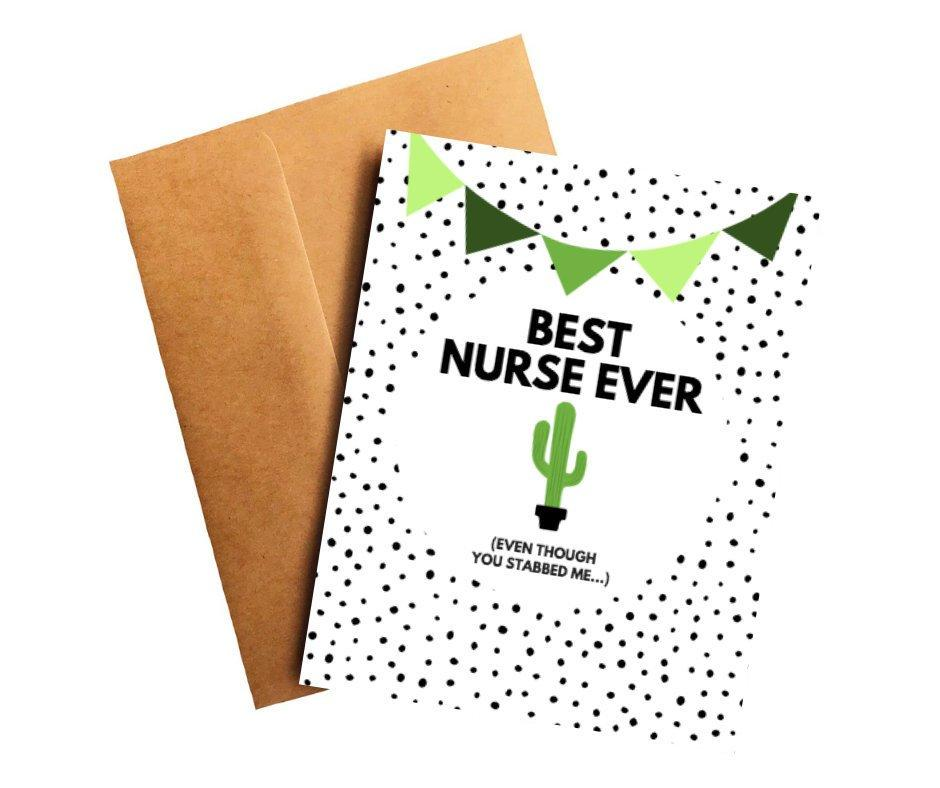 Best Nurse Ever Funny Thank You Card Better and Co.