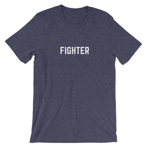 Cancer Fighter Shirt Better and Co. Heather Midnight Navy S