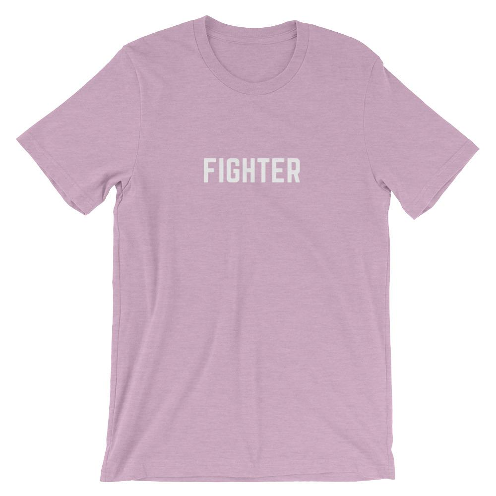 Cancer Fighter Shirt Better and Co. Heather Prism Lilac S