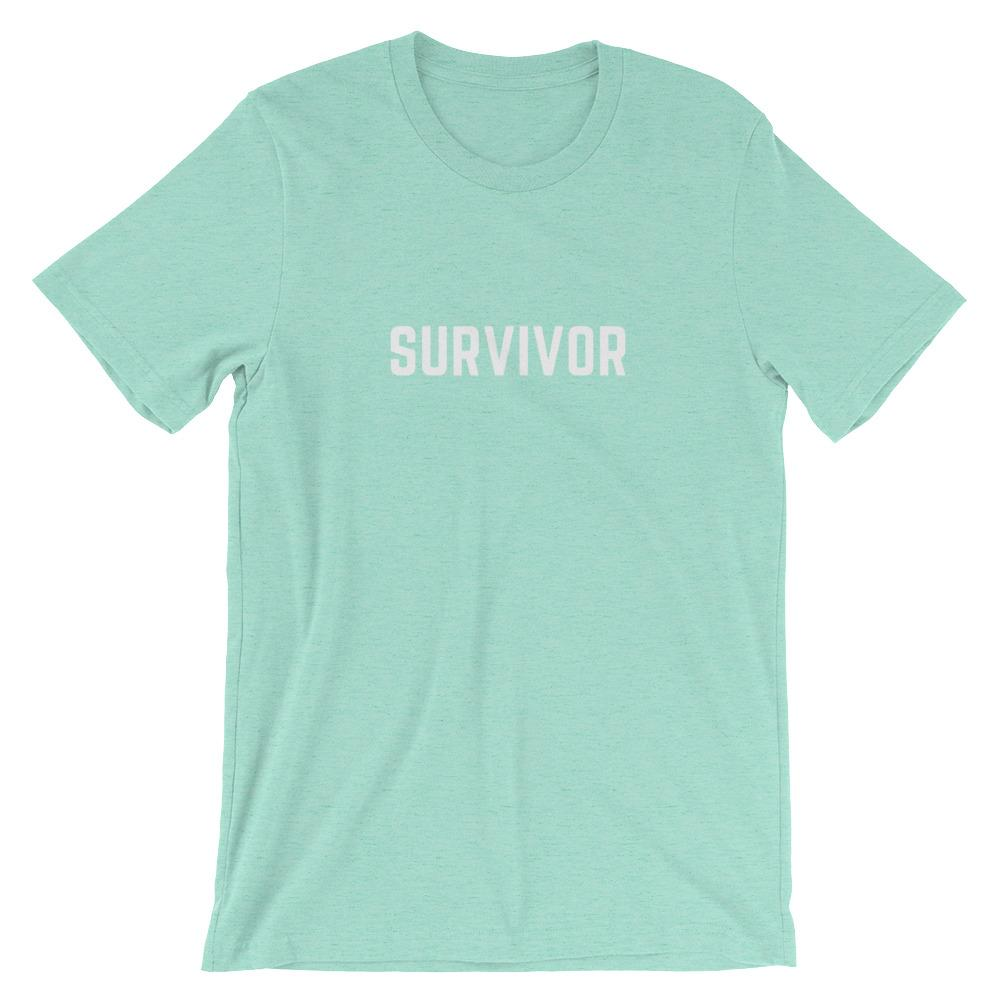 Cancer Survivor Shirt Better and Co. Heather Mint S