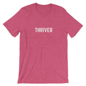 Cancer Thriver Shirt Better and Co. Heather Raspberry S
