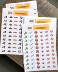 Double Pack Side Effect Planner Stickers Poop Stickers for Planner Better and Co.