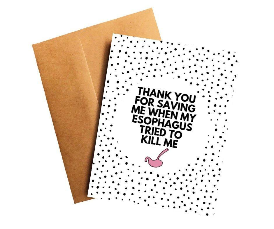 Esophageal Cancer Oncologist Doctor Thank You Card Better and Co.