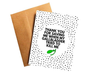 Gallbladder Cancer Oncologist Doctor Thank You Card Better and Co.