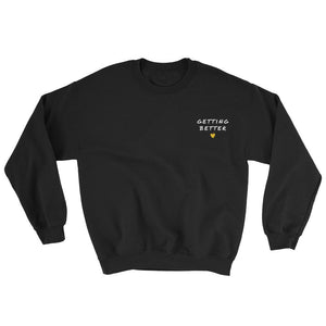 Getting Better Embroidered Sweatshirt Better and Co. S