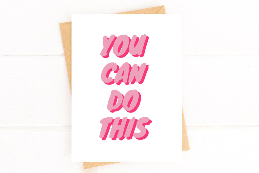 You Can Do This Cancer Encouragement Get Well Card